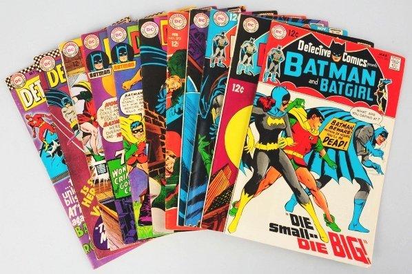 152: Lot of 11: 1960s Detective Comic Books.