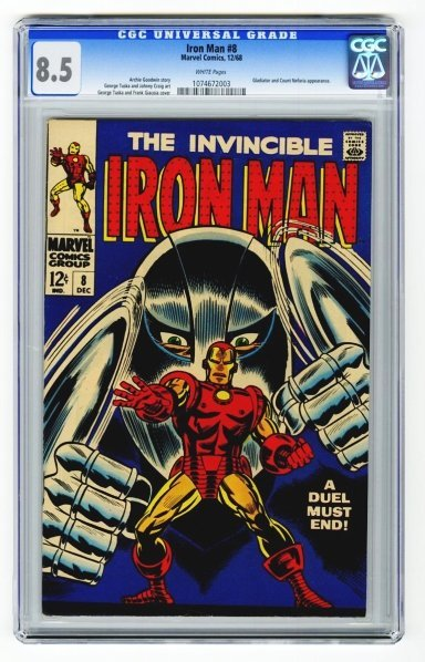 153: Iron Man #8 CGC 8.5 Marvel Comics 12/68.