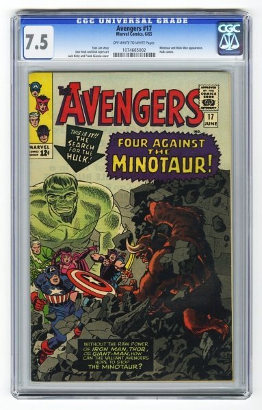 155: Avengers #17 CGC 7.5 Marvel Comics 6/65.