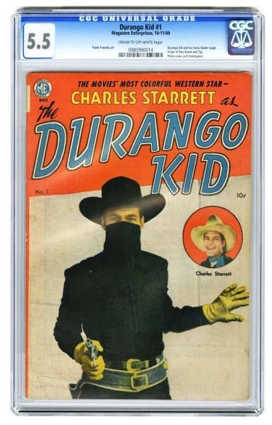 157: Durango Kid #1 CGC 5.5 Magazine Enterprises.