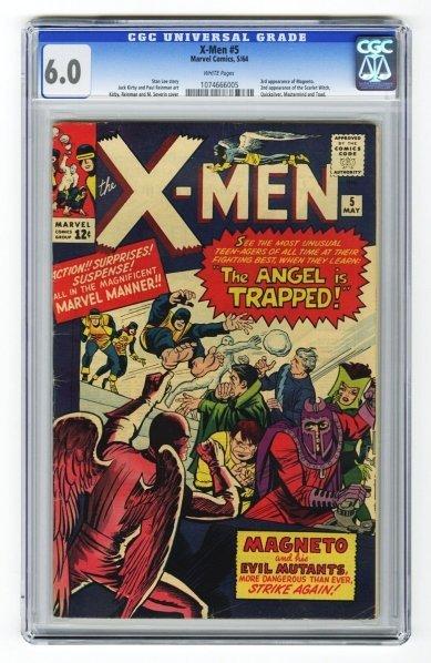 158: X-Men #5 CGC 6.0 Marvel Comics 5/64.