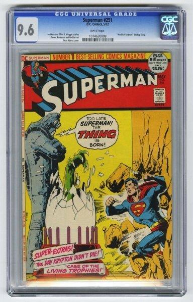 160: Superman #251 CGC 9.6 D.C. Comics 5/72.