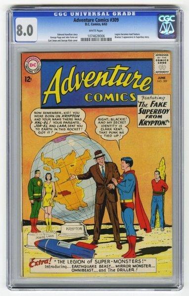 163: Adventure Comics #309 CGC 8.0 D.C. Comics 6/63.