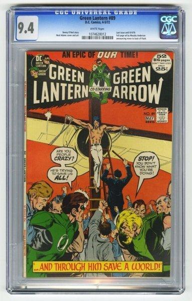 164: Green Lantern #89 CGC 9.4 D.C. Comics 4-5/72.