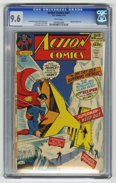 165: Action Comics #411 CGC 9.6 D.C. Comics 4/72.