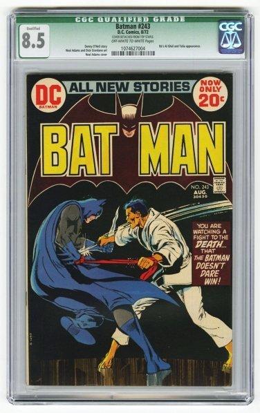 166: Batman #243 CGC 8.5 D.C. Comics 8/72.