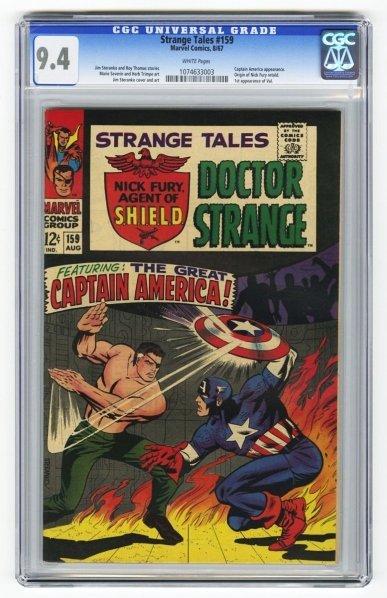 168: Strange Tales #159 CGC 9.4 Marvel Comics 8/67.