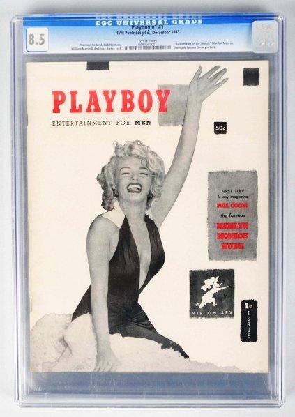 177: Vol. 1 #1 Playboy Magazine with Marilyn Monroe.