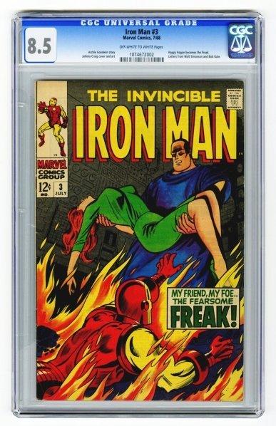 178: Iron Man #3 CGC 8.5 Marvel Comics 7/68.