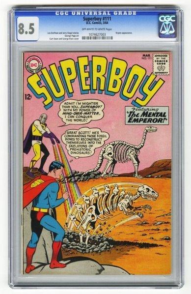 194: Superboy #111 CGC 8.5 D.C. Comics 3/64.