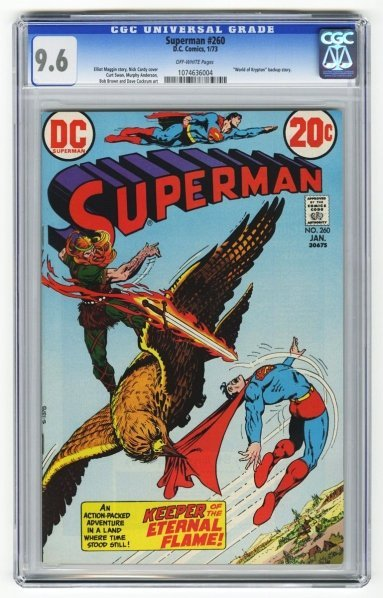 197: Superman #260 CGC 9.6 D.C. Comics 1/73.