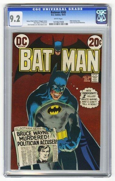 198: Batman #245 CGC 9.2 D.C. Comics 10/72.