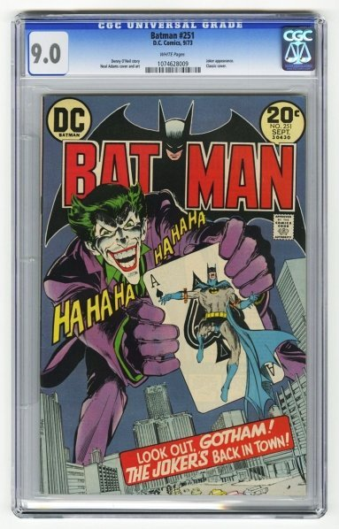 199: Batman #251 CGC 9.0 D.C. Comics 9/73.