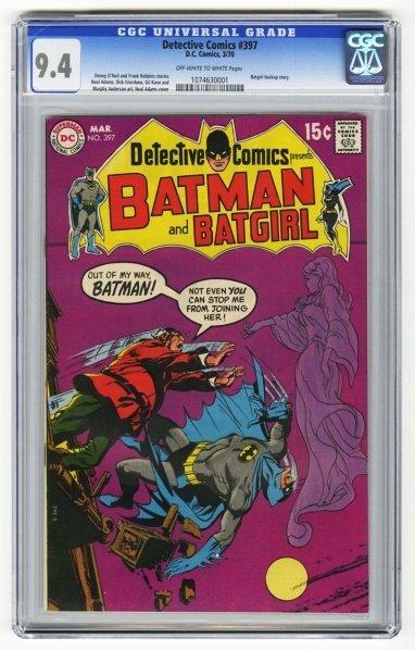 200: Detective Comics #397 CGC 9.4 D.C. Comics 3/70.