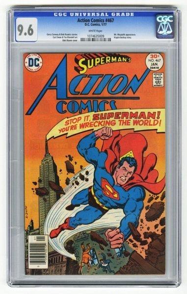 201: Action Comics #467 CGC 9.6 D.C. Comics 1/77.