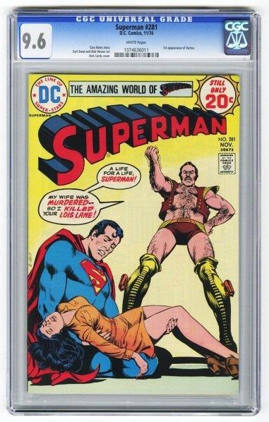 202: Superman #281 CGC 9.6 D.C. Comics 11/74.