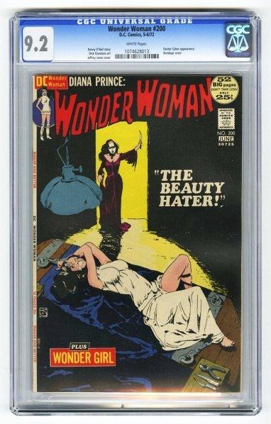 203: Wonder Woman #200 CGC 9.2 D.C. Comics 5-6/72.