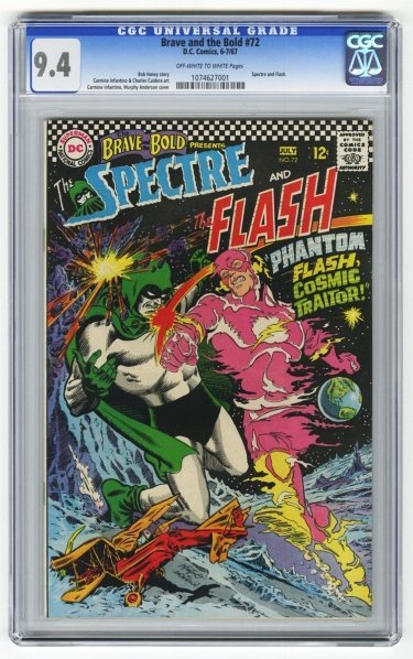 205: Brave and the Bold #72 CGC 9.4 D.C. Comics.