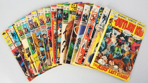206: Lot of 75+ 1960s-70s Western Themed Comic Books.