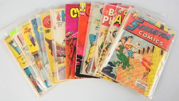 207: Large Lot of Approximately 100 Golden Age Comics.