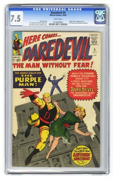 208: Daredevil #4 CGC 7.5 Marvel Comics 10/64.