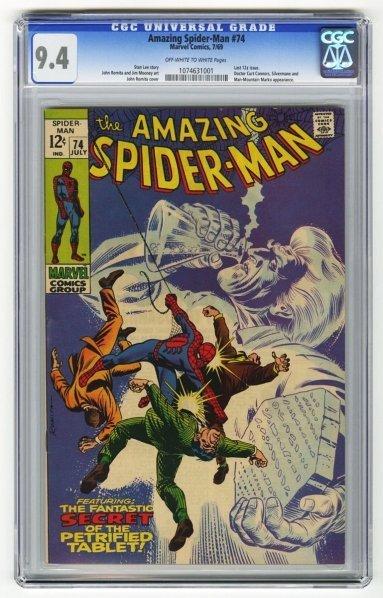 209: Amazing Spider-Man #74 CGC 9.4 Marvel Comics.