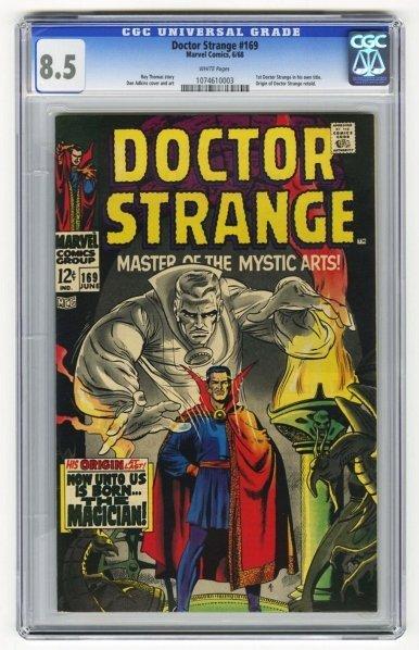 212: Doctor Strange #169 CGC 8.5 Marvel Comics 6/68.