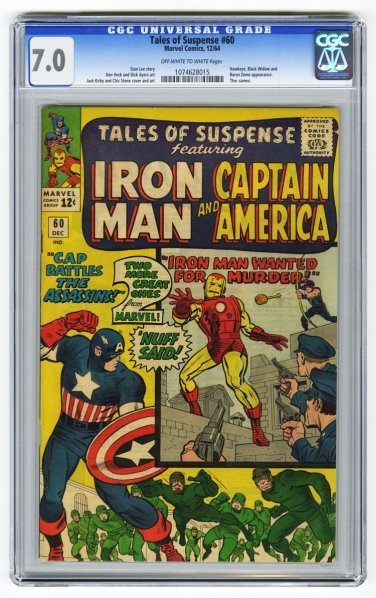 213: Tales of Suspense #60 CGC 7.0 Marvel Comics.
