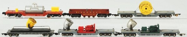 1: Lot of 6: American Flyer S-Gauge Freight Cars.