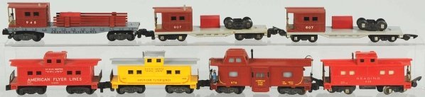 4: Lot of 7: American Flyer S-Gauge Cabooses.