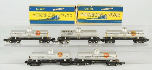 7: American Flyer S-Gauge Railroad Tank Cars.