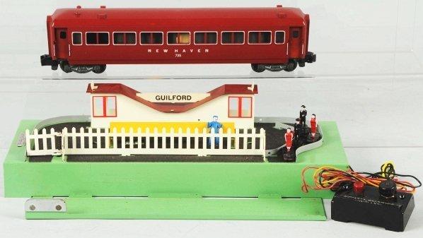 37: American Flyer Animated Station Platform & Car.