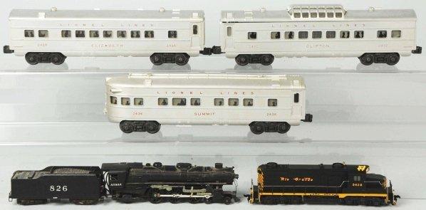 44: Lot of Lionel Trains.
