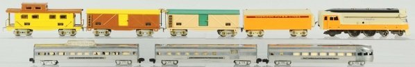 49: American Flyer O-Gauge Hiawatha Train Set.