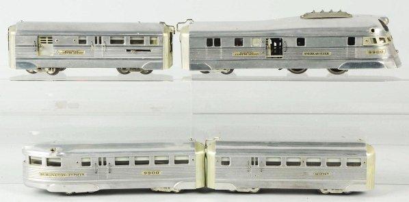 52: American Flyer Burlington Zephyr Train Set.