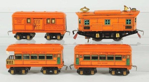 53: Tinplate American Flyer Passenger Train Set.