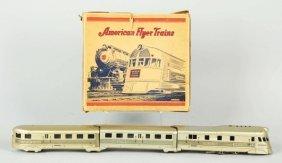 Tin American Flyer No. 9900 Wind-Up Train Set.