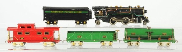 58: American Flyer O-Gauge Freight Train Set.