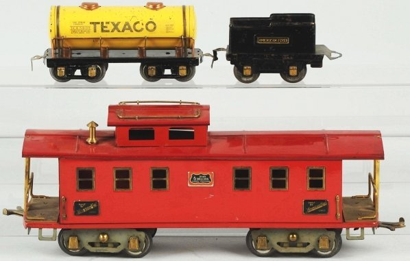 60: Lot of 3: American Flyer Train Items.