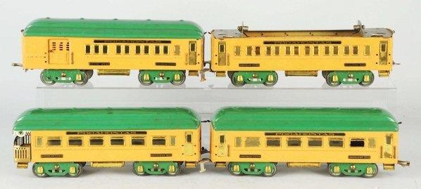 65: American Flyer Pocahontas Passenger Train Cars.