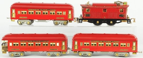 66: Tinplate American Flyer Passenger Train Set.