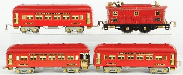 66: Tinplate American Flyer Passenger Train Set. - 2
