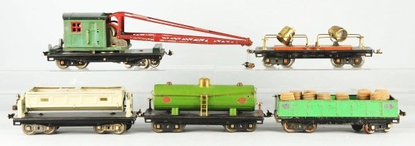 108: Lot of 5: Lionel 200 Series Freight Cars.