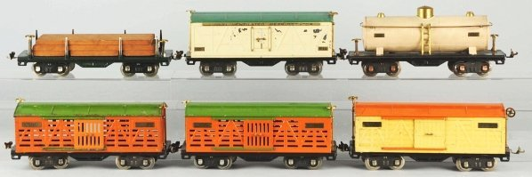 114: Lot of 6: Lionel 500 Series Freight Cars.
