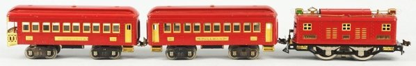 126: Lionel Standard Gauge No. 8 Passenger Train Set.