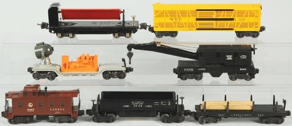 335: Lot of 7: Lionel Freight Cars.
