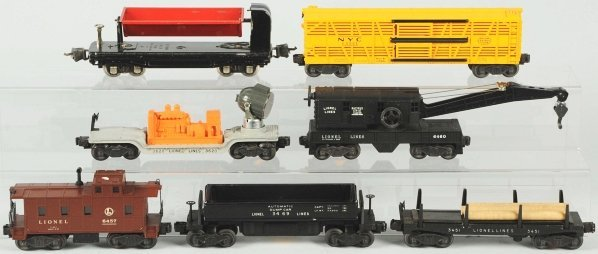 335: Lot of 7: Lionel Freight Cars. - 2