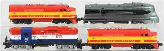 358: Lot of 4: Contemporary Lionel Train Engines.