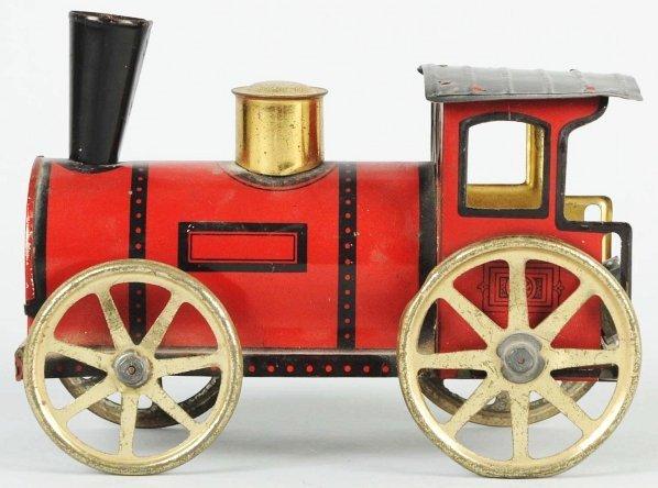 420: Tin Litho Wind-Up Train Engine. - 2