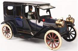 566: Tin Litho Karl Bub Clockwork Limousine Car.